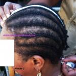 2. Du front jusqu'a la nuque : de votre ligne de cheveux du front a la ligne de cheveux de la nuque